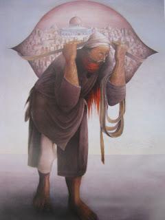 Der Lastenträger von Jerusalem, Sliman Mansour